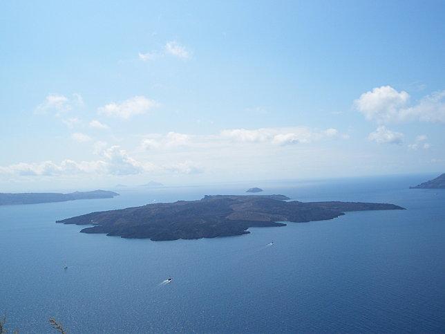 cratere nea kameni fira cyclades grece