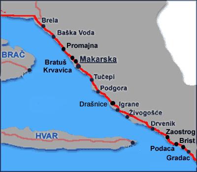 Makarska et riviera de Makarska, l'une des plus belles de Dalmatie (Tourisme Croatie) 1