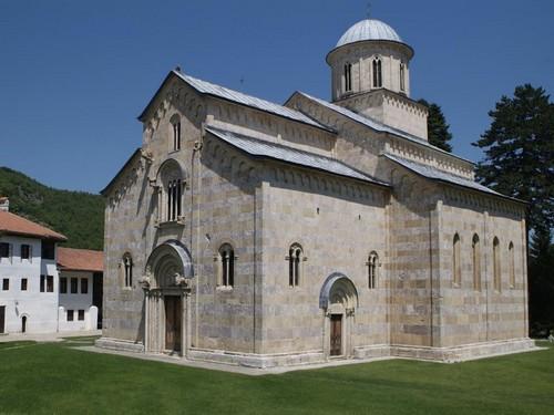 monastère Decani au Kosovo