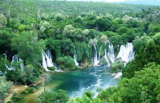 kravice parc des chutes en Bosnie