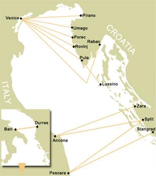 Comment aller en Croatie en ferry ou rejoindre l'Italie depuis la Croatie par la mer? 2