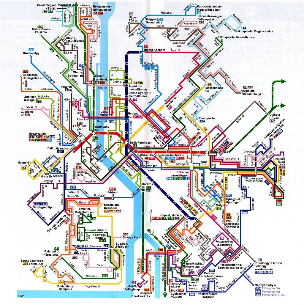 Carte Des Transports Publics De Budapest Cliquez Pour Agrandir Credit Photo Hungarybudapestguide
