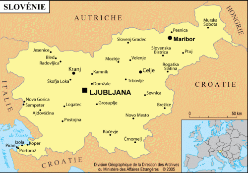 Cliquez pour agrandir la carte de la Slovénie