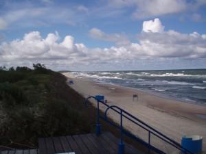 Sur les bords de la Mer Baltique, près de Nida