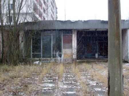 Tchernobyl Pripyat immeuble abandonne