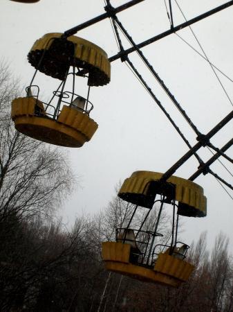 Tchernobyl Pripyat nacelles vides
