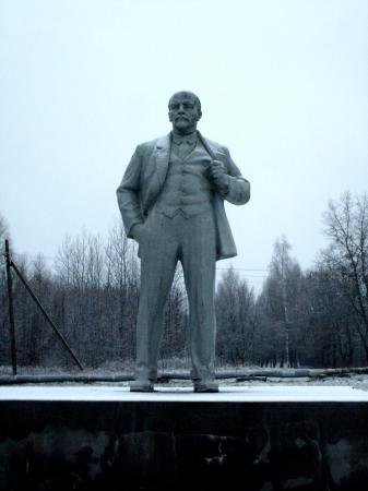 Tchernobyl Pripyat  statue lenine
