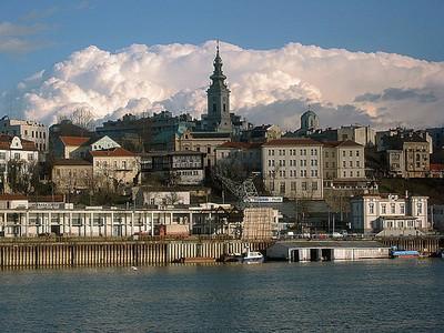 Belgrade, Sava, Danube et Eglise Saborna