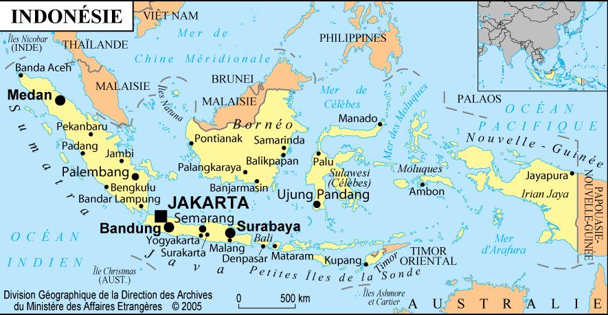 carte indonésie lombok