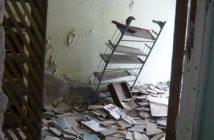 Bibliothèque oubliée à Pripyat Tchernobyl