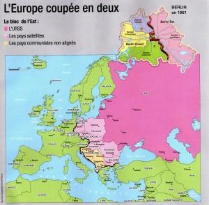 """L'Europe coupée en 2 (Document """"Ouest-France"""")"""