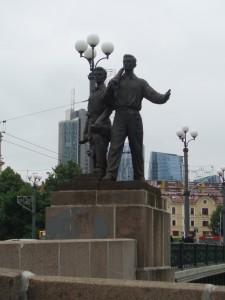 Monument d'inspiration soviétique à Vilnius