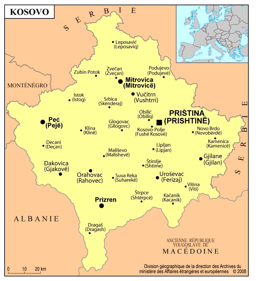 kosovo carte