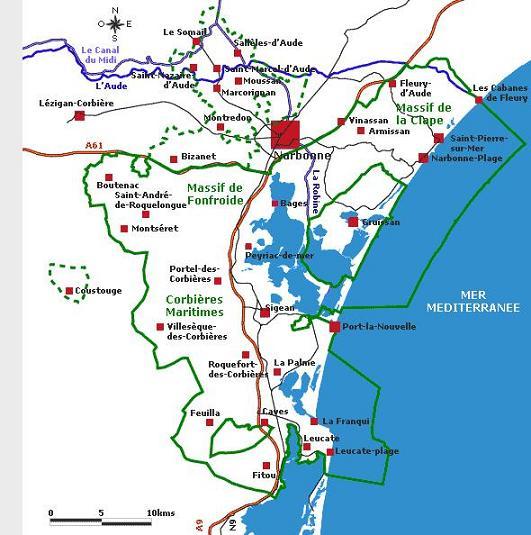 carte narbonne region
