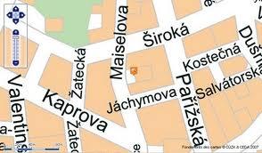rues josefov prague plan