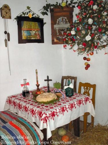 badjnak feu de la nuit du réveillon de noel en serbie