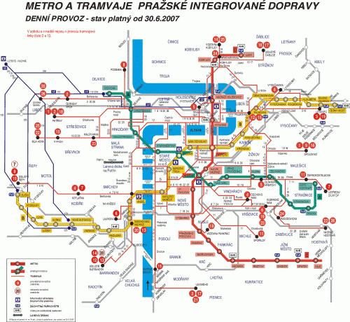 plan metro prague ...