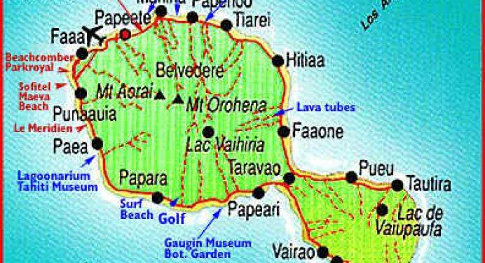 Tahiti carte de Polynésie