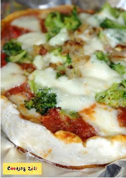 Pizzettas végétariennes mozzarella et légumes fondants 2