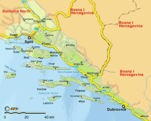 La Dalmatie   4 R U00e9gions En Une   Un Condens U00e9 De La Croatie