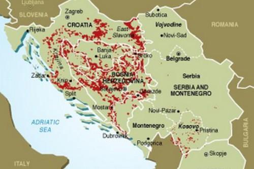 carte mines antipersonnels balkans