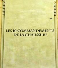CHAUSSURES : les 10 commandements