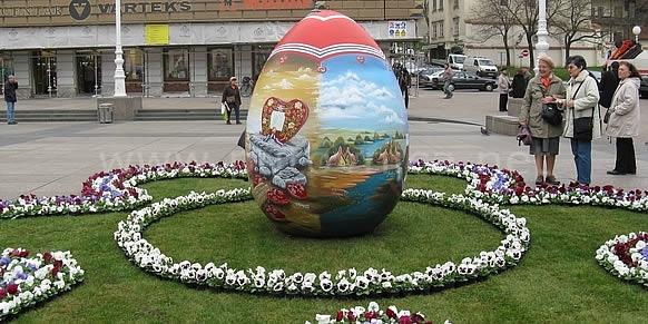 Pisanice, les oeufs décorés, tradition de Pâques en Croatie du Nord 1