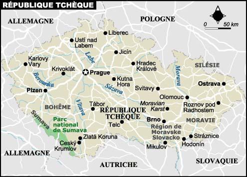 carte republique tcheque