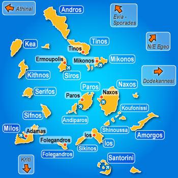 Vacances Cyclades : Naxos, presqu'île de Prokopios et plage d'Agia Anna