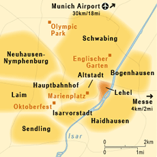 carte munich quartiers