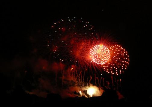 Feu d'artifice de Carcassonne du 14 Juillet ; sublime embrasement de la cité médiévale 5