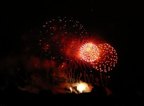Feu d'artifice de Carcassonne du 14 Juillet ; sublime embrasement de la cité médiévale 6