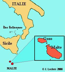 ou se trouve malte sur la carte du monde - Photo