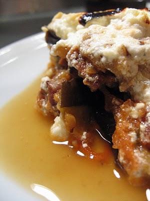 recette grecque moussaka à l'agneau feta