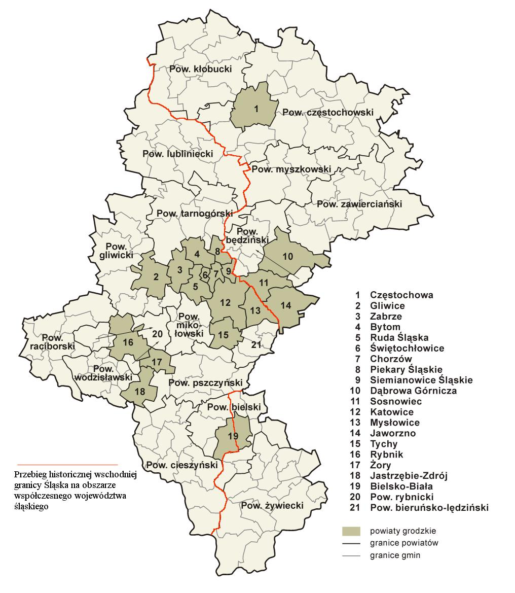 La région de Haute Silésie (Gorny Slask) en Pologne 6