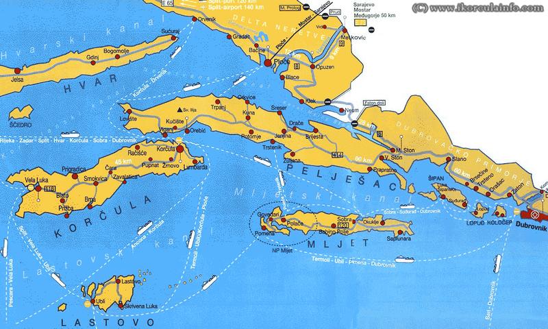 liaisons ferry korcula