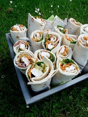 Recette sandwich - wraps poulet, bacon et cheddar 1