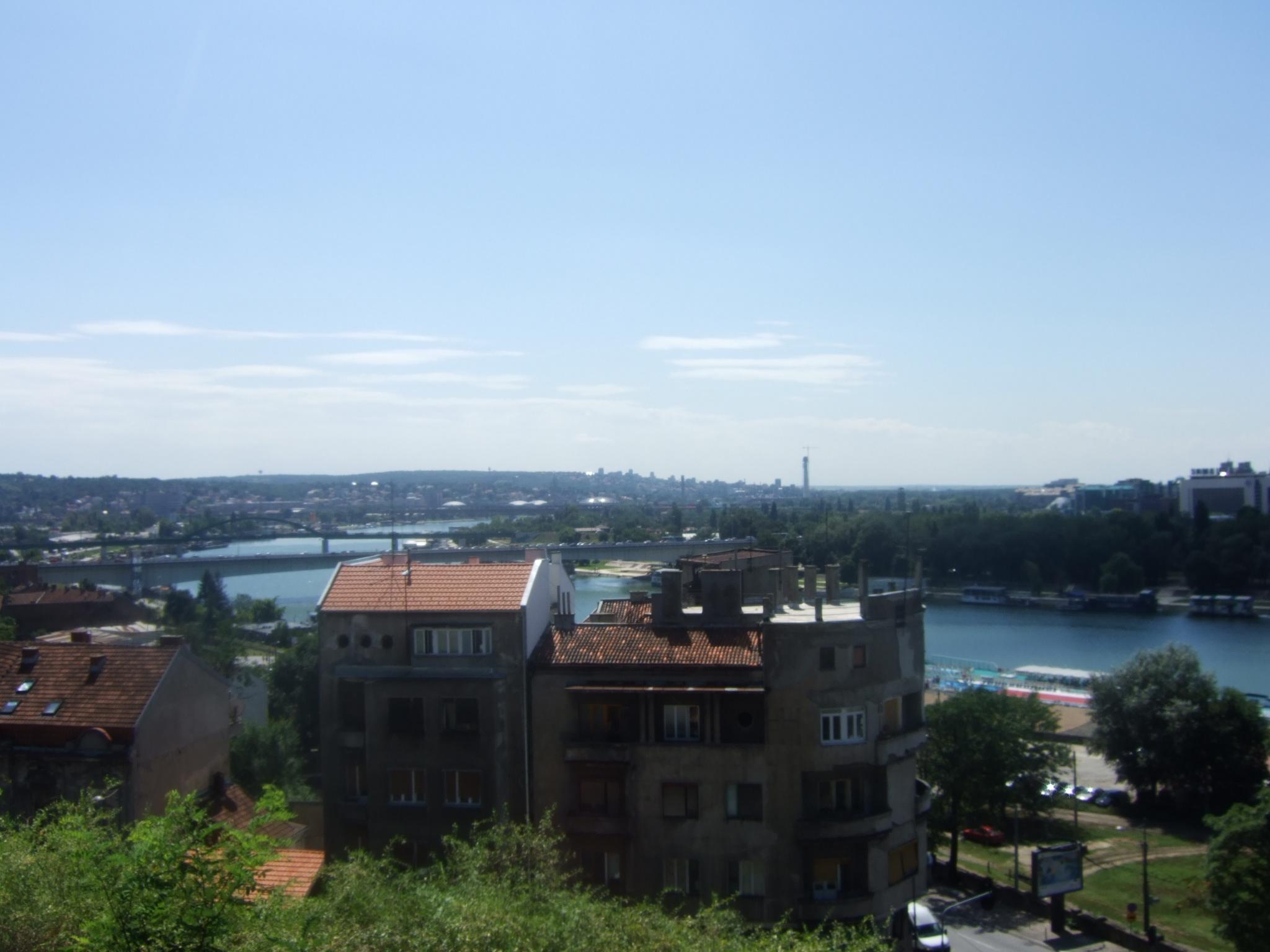 Belgrade depuis la citadelle de Kalemegdan