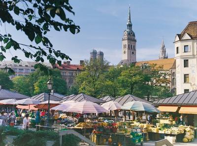 Viktualienmarkt Munich, un marché exceptionnel; le royaume des victuailles 1