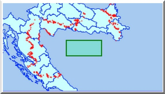 carte croatie mines