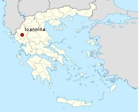 carte ioannina grece