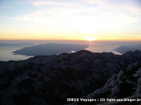 Biokovo Coucher du Soleil sur l'Adriatique