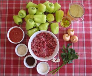ingrédients pour faire les poivrons farcis croates