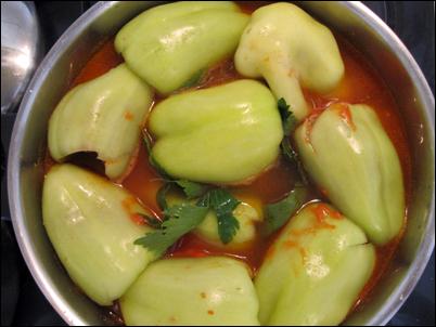 cuisson des poivrons croates