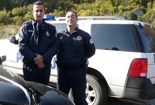 police de la route au Montenegro