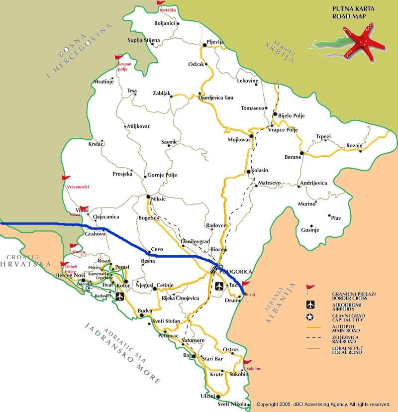 route montenegro transpots