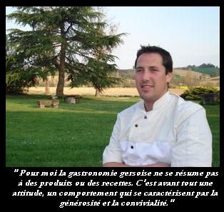 Thibault Lagoutte, chef de l'Auberge La Baquere (Gers)