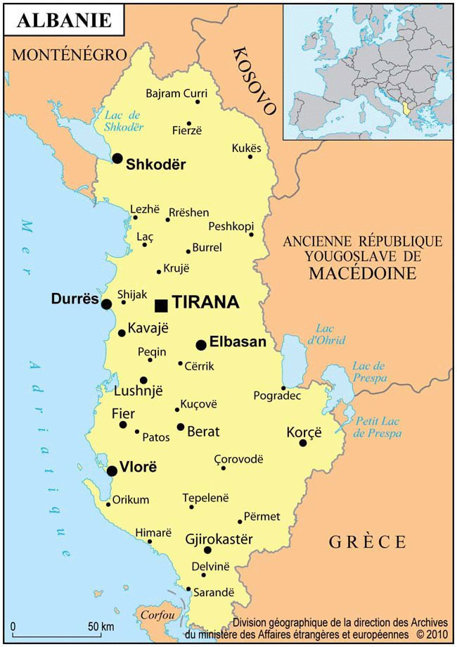 albanie carte
