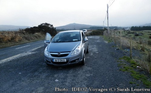 Irlande voiture dans les tourbières