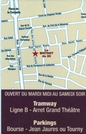 Le Bistrot du 20 ; un bar à vins et restaurant convivial à Bordeaux 4
